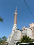 09Aug12 Istanbul 04 Tour - Hagia Sophia minaret.JPG