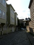 09Aug12 Istanbul 11 Tour - street of wooden houses.JPG