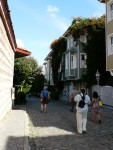 09Aug12 Istanbul 12 Tour - street of wooden houses.JPG
