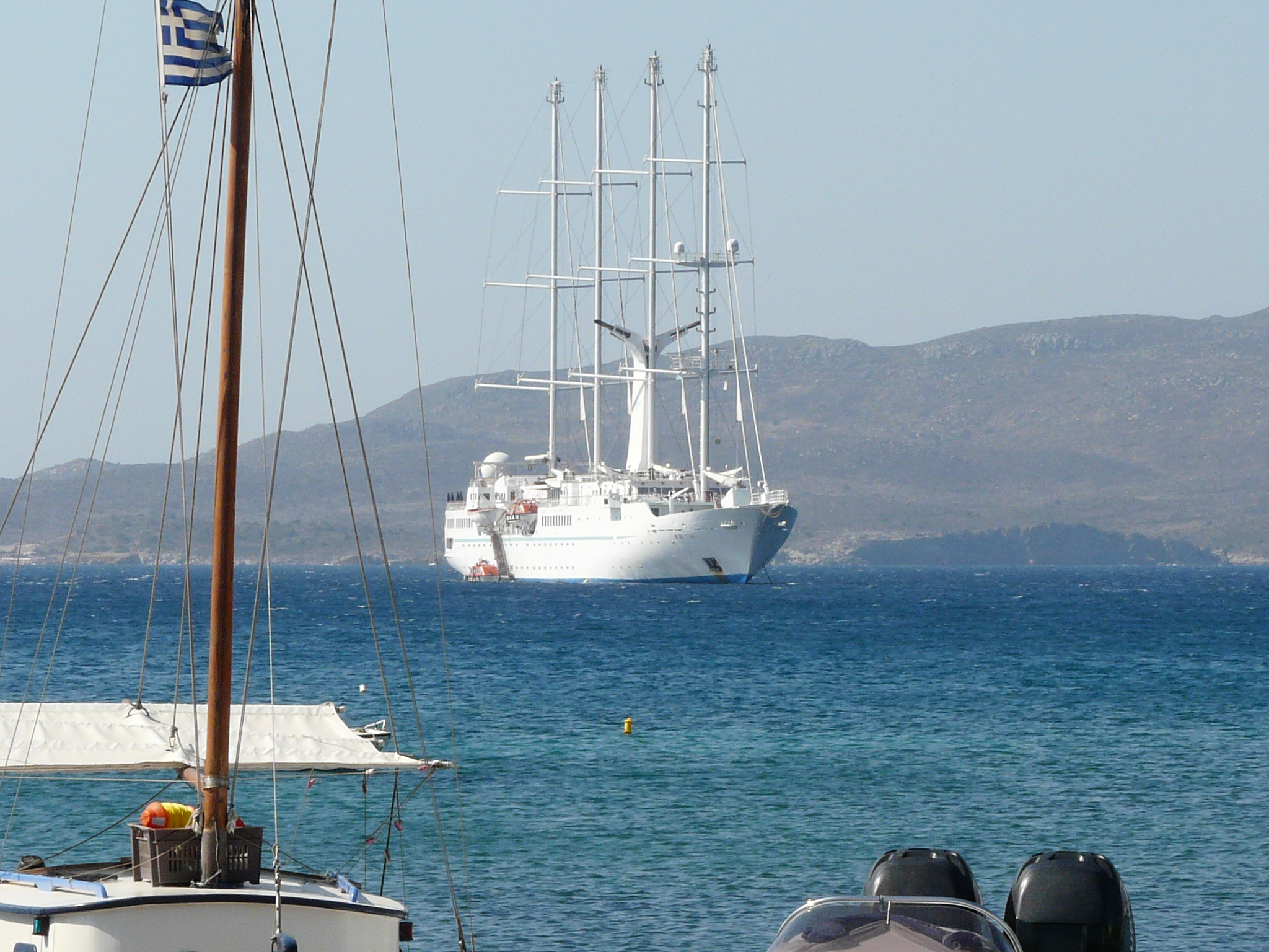 09Aug21 Milos 02 view of our ship only one in harbor.JPG