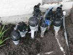 2010 Mar 14 San Ramon 06 Concrete new sprinkler controller for flower bed.JPG