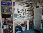 2012 Oct New work area 01 bench & shelves