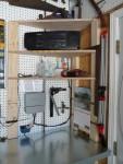 2012 Oct New work area 04 corner shelf
